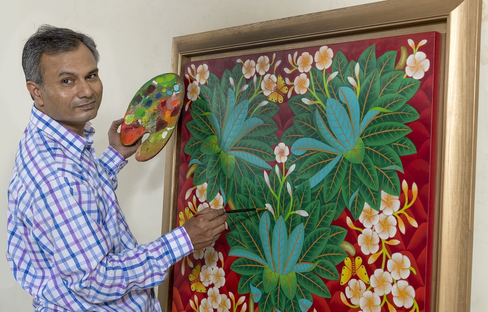 """Fragrance of nature"" a solo art exhibition presented by Bhagat Singh."