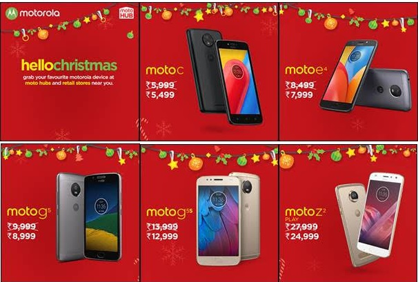 This Christmas, avail exciting offers on your favourite Motorola Smartphones at a store near you