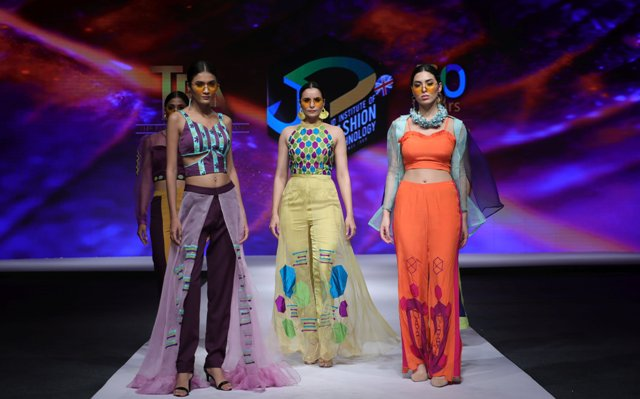 JD Institute of Fashion Technology have created garments inspired from Rogan Art, Tetrachromacy and Space  orbit