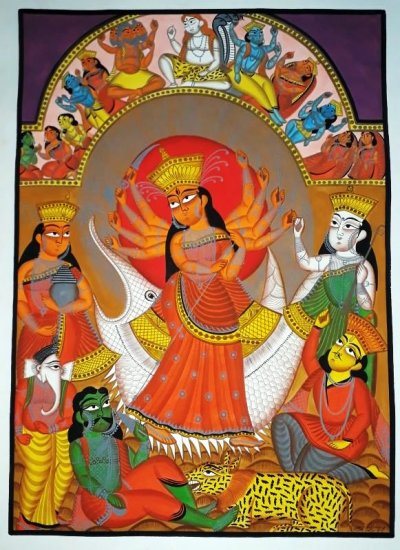 Satrangi: An  Exhibition of Bengali Pattachitra Art by OJAS ART Awardees