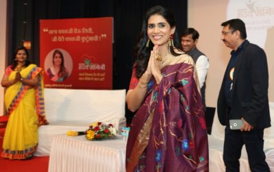 Sonali Kulkarni supports Madhavbaugs Hriday Sangini Initiative