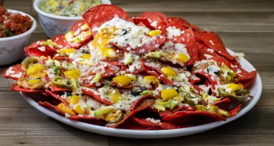 RECIPE-CORNITOS BAKED BEAN BEETROOT NACHOS