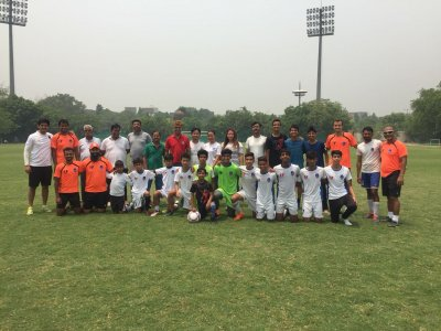 Delhi Dynamos celebrate AFC Grassroots Day