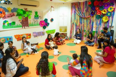 Musical Musings, an exemplary music workshop in Delhi for children and their parents at Shri Ram Global Pre School, Ashok Vihar, Phase 2, New Delhi