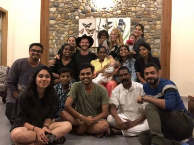 Sunny Leone with her team is celebrating her Nanny's birthday